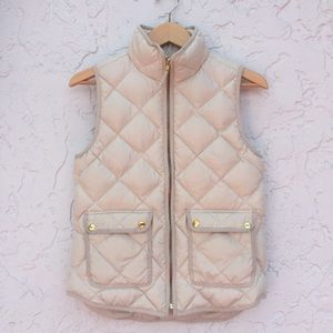 J.CREW Size XS excursion Quilted Down Vest